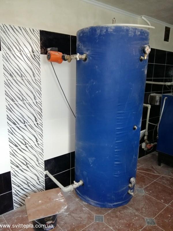 Монтаж котла 45 kW в частном доме