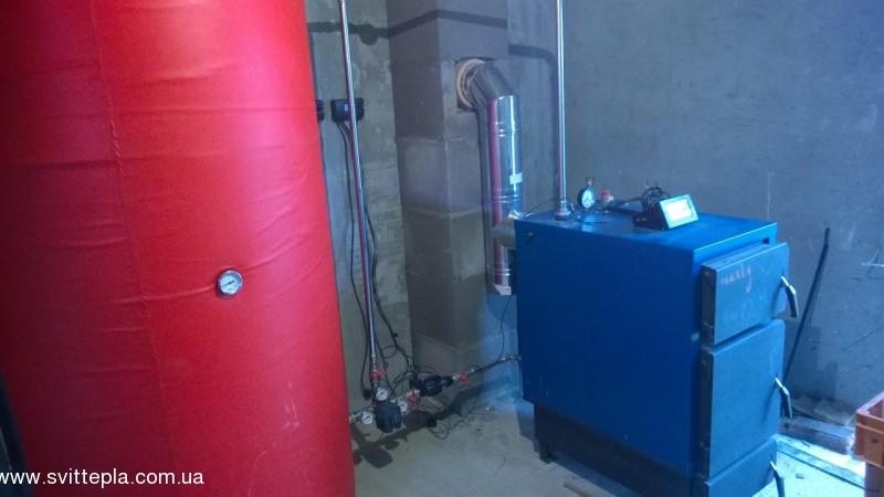 Монтаж котла 27 kW в частном доме