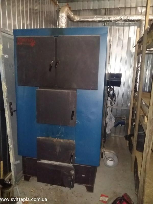 Монтаж котла 200 kW в теплице