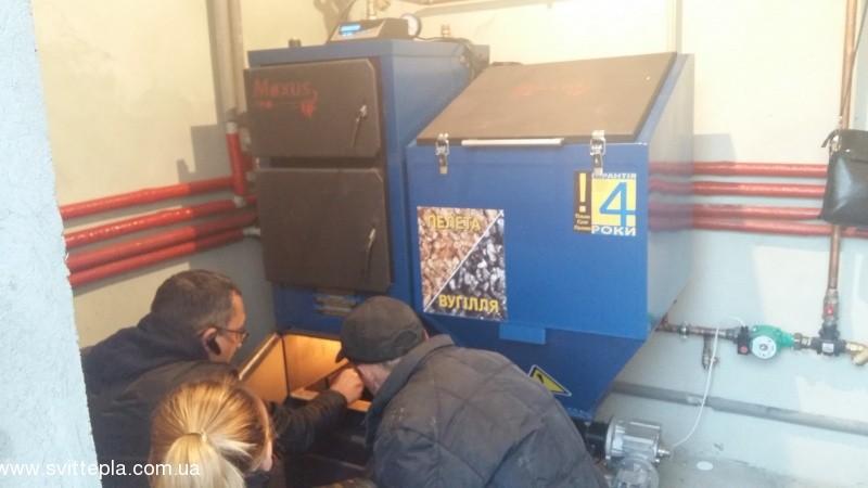 Монтаж котла 25 kW в частном доме