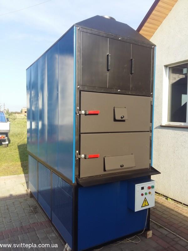 Монтаж котла 390 kW в комплексе