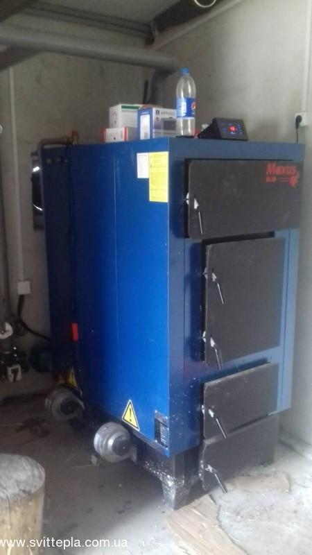 Монтаж котла 98 kW на производстве