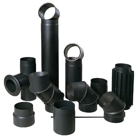 Димоходи жаростійкі з чорної сталі