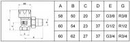 Клапан термостатический обр. радиатора 1/2