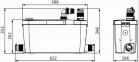 Установки для водоотведения Wilo HiDrainLift 3-35 фото товара 0