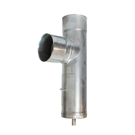 Тройник с ревизией и конденсатоотводом 0,8мм, 90° фото товара