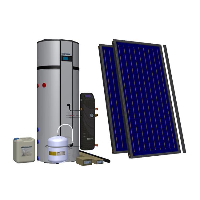 Солнечный комплект с тепловым нассосом Hewalex 2 TLP-PCWU300SK фото товара